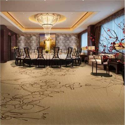 荆门市东宝办公宾馆酒店地毯批发 满铺羊毛加捻防火印花地毯定制