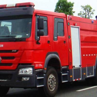 重汽单桥水罐消防车 厂家直销森林救火车