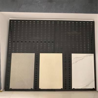 地砖瓷砖冲孔网板 瓷片展板展架图片 洞洞板展架生产厂家