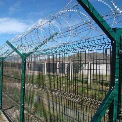 护栏网高速双边丝隔离铁网定制工厂现货直销公路边框防护围栏网
