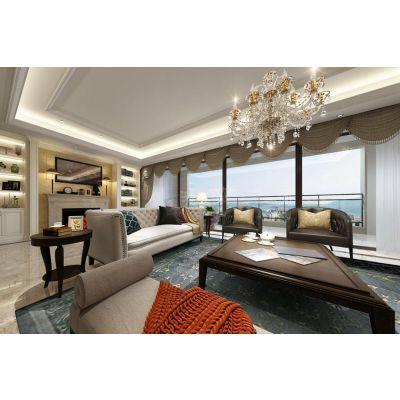 春森彼岸美式现代风格装修效果欣赏,重庆天古装饰设计师王渝作品分享