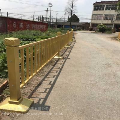 ***道路护栏 黄金色公路护栏 市政隔离栏