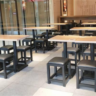 鹰潭快餐店桌椅定做,时尚简约快餐厅桌椅案例