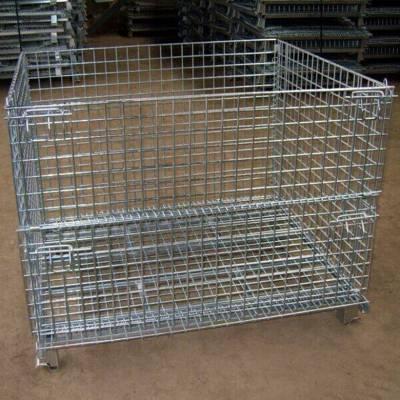 可移动仓库笼折叠仓储笼镀锌层网
