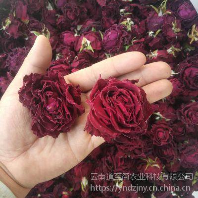云南墨红玫瑰花茶19年头茬6-8公分精品大货产地直供墨红花冠