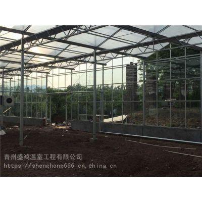 盛鸿智能玻璃温室_花卉观赏玻璃温室厂家报价