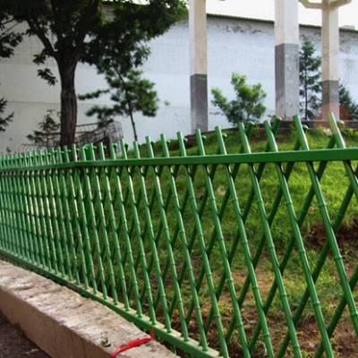 四川绿色仿竹节围栏厂家景区花园仿竹木不锈钢围栏