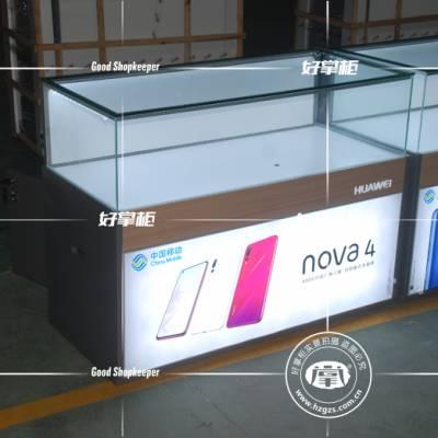 华为新款软膜手机玻璃柜 华为灯箱款手机展示柜定制价格