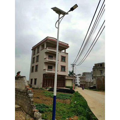 河南安阳鸿泰12W太阳能路灯厂家 一体化太阳能路灯价格