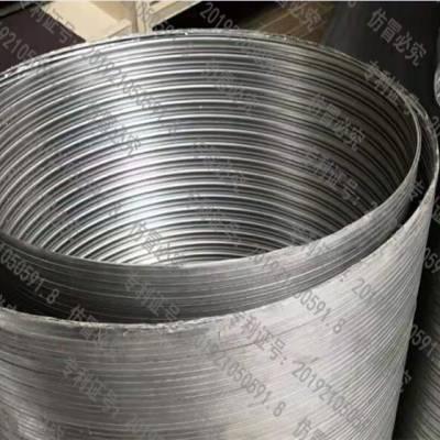 螺旋铝套筒生产线螺旋铝波纹管加工报价