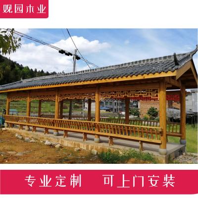 金华古建长廊厂家 公司休闲长廊 景观长廊定制