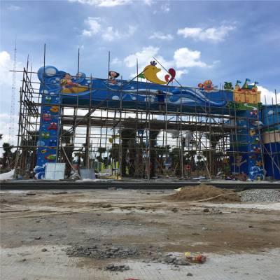 清远玻璃钢门口牌匾雕塑,幼儿园城堡雕塑,主题动漫定制
