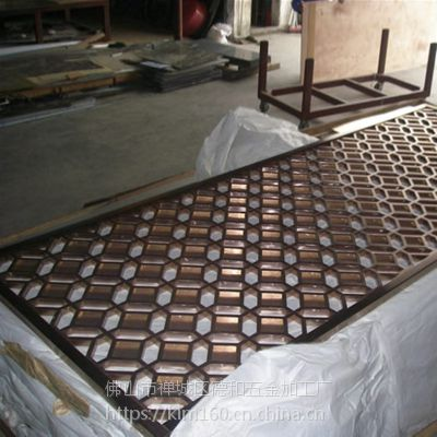 酒店不锈钢屏风 宁波生产加工 酒店玫瑰金古典金属屏风