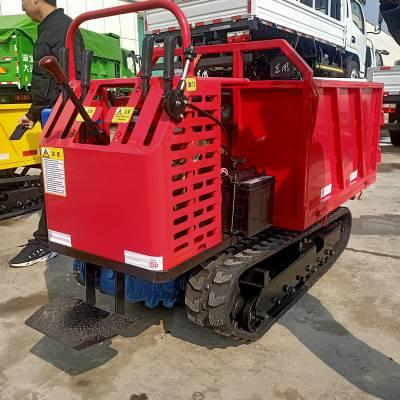 小型水田稻田运输车 自走式履带搬运车厂家 久恒履带爬山虎