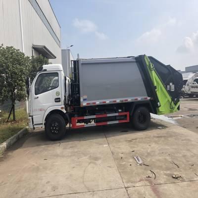 随州东风6立方后装挂桶压缩垃圾车报价