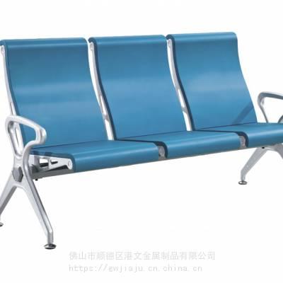 新款GW-2126款机场椅,PU排椅,PU材质不锈钢公共座椅 PU骨架金属款排椅
