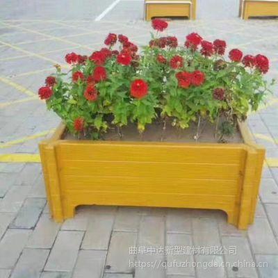 厂家定制精品组合式仿木花箱花桶花盆