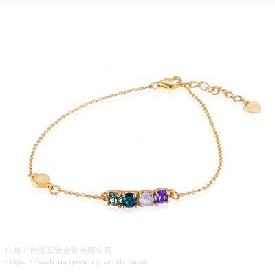 卡诗曼纯银套装饰品施华洛手链KH0191125