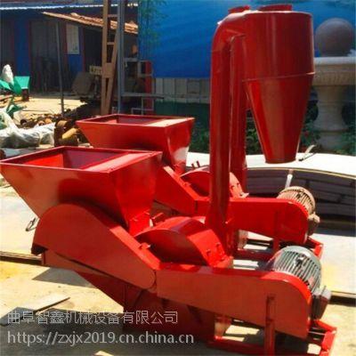 柴油机带动大型草粉机/沙克龙花生秧粉草机 大中小型农作物秸秆粉碎机 大型沙克龙饲料粉碎机