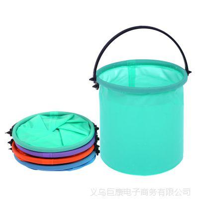 彩色可折叠洗笔筒 多功能塑料小水桶手提水桶幼儿园儿童绘画用品