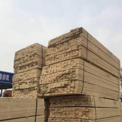 枣庄进口木材批发市场 木方加工厂 原木加工木跳板 木板材 找津大木业