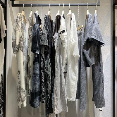 直播拿货 深圳原创女装设计师品牌引色19休闲夏女装折扣尾货走份
