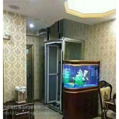 潍坊厂家定制家用电梯 无噪音升降机 老人儿童电梯 国胜机械质量保证 升降平稳