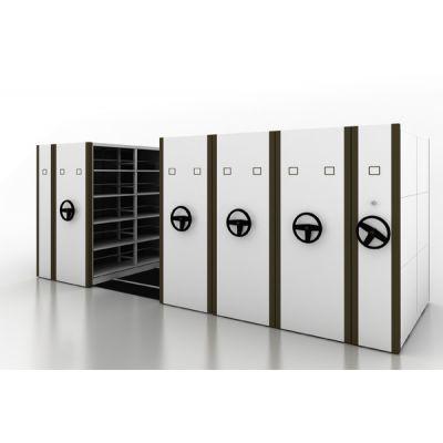 WEBBER密集柜生产厂家 移动密集架定制 转盘式档案密集柜