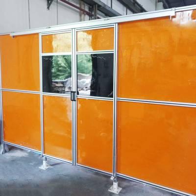 机床设备铝合金框架防护罩