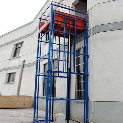 东营市恒久机械定制, 标准导轨式升降货梯 400千克专用升降货梯