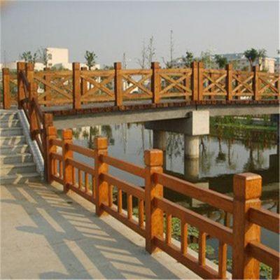 河道仿木栏杆厂家直销-易商量装饰工程-汕头河道仿木栏杆