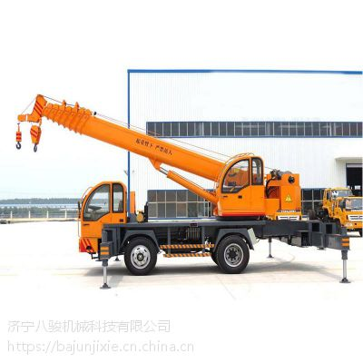 八骏10吨汽车吊车底盘多种可选 直销厂价 价格便宜质量保障 10吨吊机吊臂几米长