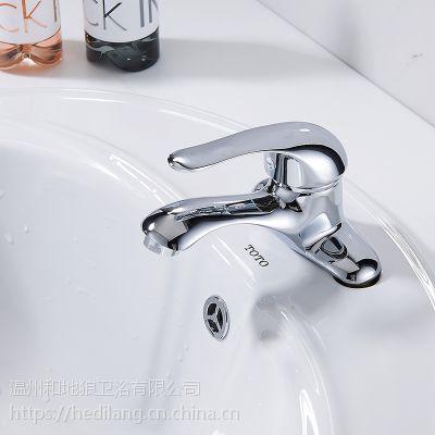 和地狼冷热双联龙头台盆洗面盆双孔冷热水龙头浴室柜龙头批发价格