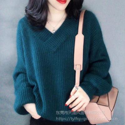 湖南长沙杂款女士羊毛衫批发市场 冬新款学生小清新毛衣女打底衫 2019韩版高领套头针织衫长袖女
