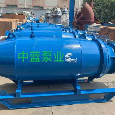 黄河提水排灌QZB浮筒式安装潜水轴流泵 专利产品潜水泵专业生产