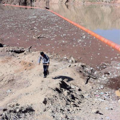 湖面拦污装置塑塑料拦污栅浮筒安装说明