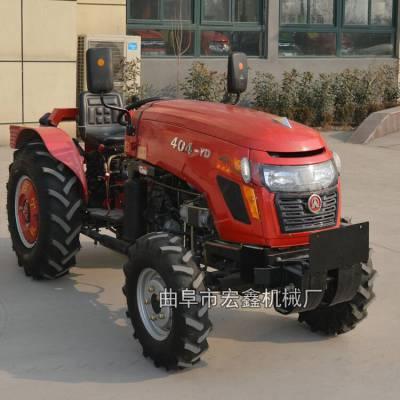 小四轮拖拉机 低矮型四轮旋耕机厂家 果园偏坐四轮拖拉机耕地机