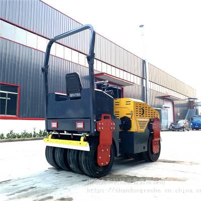 没毛病!三吨载人式压路机 小型3吨压路机 双钢轮振动压路机 手扶小型碾子