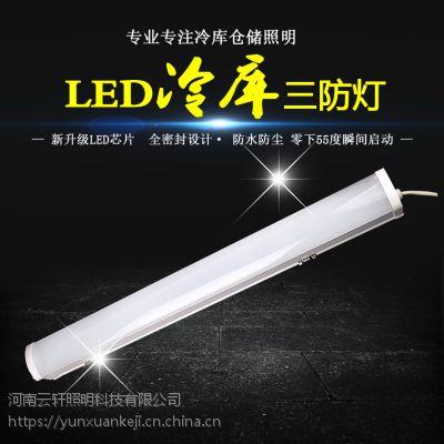 河南云轩新型免驱动 led冷库三防灯 零下45°瞬间启动质保三年适合3-5米使用20W白光