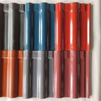 陶瓷法式罗曼瓦全直角瓦陶瓷彩瓦招金连锁瓦山东琉璃瓦厂家