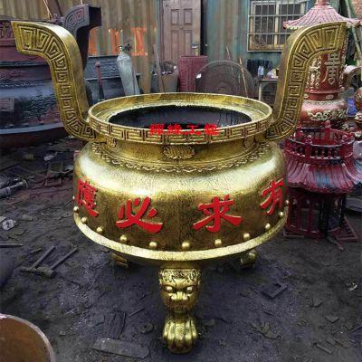 供应圆形铸铁香炉 广东惠州禅寺道院香炉价格
