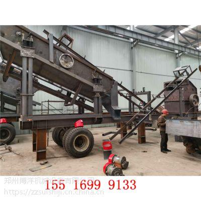 北京顺义移动式制砂机 移动打沙机 流动石头磨砂机多少钱一套