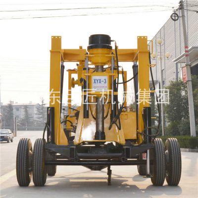 巨匠集团提供XYX-3轮式勘探钻机全液压岩心钻机提高钻进效率