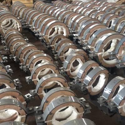 沧州汇鹏 蛭石隔热管托 蒸汽管道用 厂家定制加工