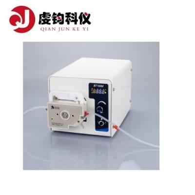 【上海虔钧】BT100M转速型蠕动泵实验室恒流泵控诉精准数显屏硅胶软管