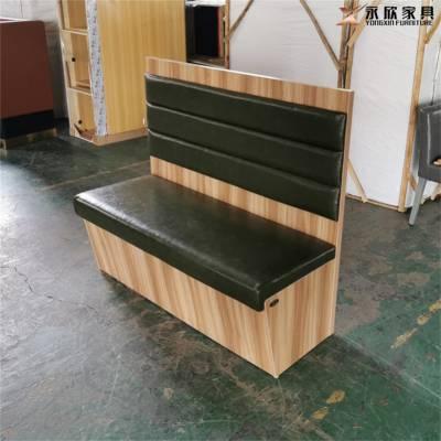 (白色板卡座)白色板材卡座沙发定做实拍