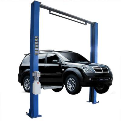 载荷4吨汽车液压式龙门举升机 加厚立柱式汽车提升机 自带双边升降自锁