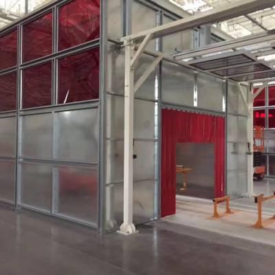 焊接防护屏,沈阳焊接防护围栏隔断,PVC焊接防护屏生产厂家,高藤门业