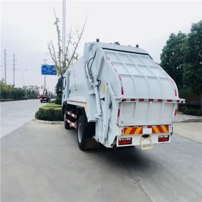 东风天锦ISB210马力压缩式垃圾车 东风天锦12方压缩垃圾车