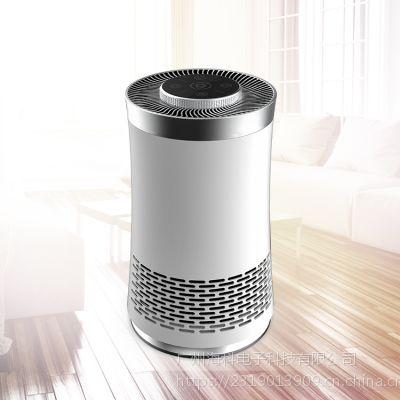供应2019爆款 雅慕桌面空气净化器 跨境电商款小型桌面空气净化器高效净化PM2.5多功能净化